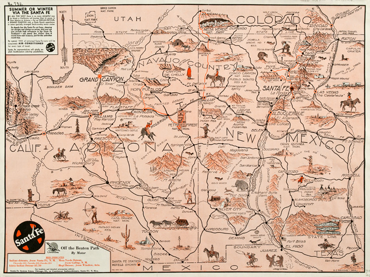 Statehood 19122012 – Santa Fe Tourist Map