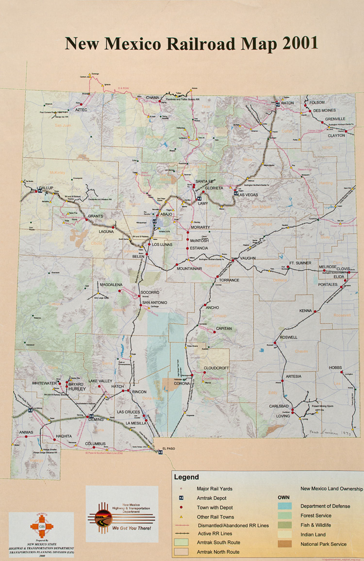 Statehood 19122012 – New Mexico Tourist Attractions Map